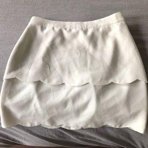 Club Monaco Donah Scalloped skirt